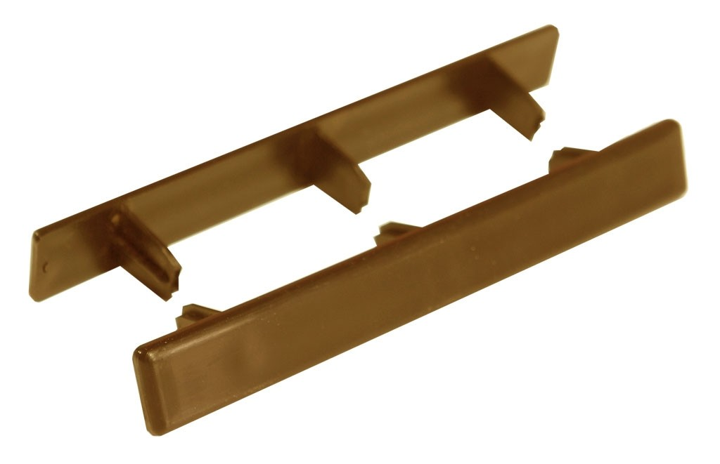 Zaślepka do deski dąb brąz 140mm x 22mm (10 szt.)