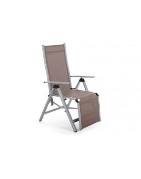 Krzesło ogrodowe aluminiowe Relax Silver / Taupe