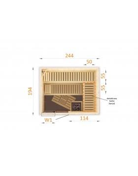 Sauna fińska 2520W1