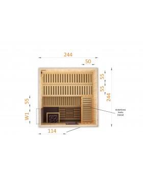 Sauna fińska 2525W1