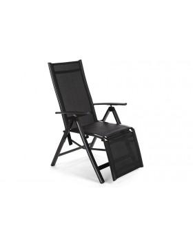 Krzesło ogrodowe aluminiowe Relax Black / Black