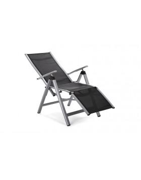 Krzesło ogrodowe aluminiowe Relax Silver / Black