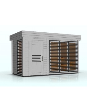 Sauna zewnętrzna-ogrodowa Azalia 4 x 2 m