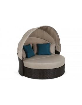 Sofa ogrodowa z baldachimem Acapulco Brown / Taupe