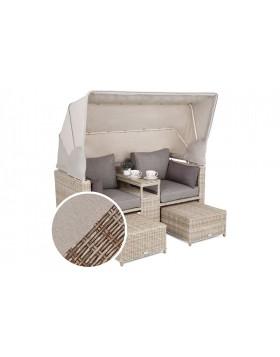 Sofa ogrodowa z baldachimem Missouri Ginger / Brown Melange