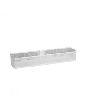 Kosz Mesh średni na szynę pionową | Biały 74x106x435  mm