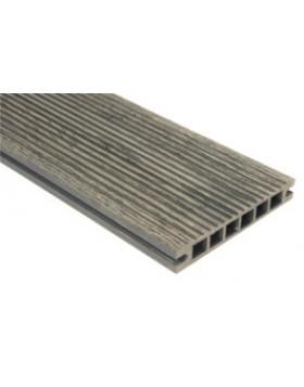 Deska szlifowana-deseniowana – ciemny brąz – wąski rozstaw 3200mm x 140mm x 22mm