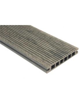 Deska szlifowana-deseniowana – ciemny brąz – szeroki rozstaw 2400mm x 140mm x 22mm,