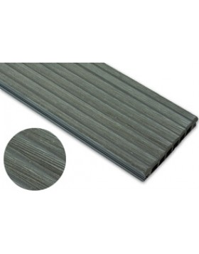 Deska szczotkowana – grafit – szeroki rozstaw 3200x140x22 mm