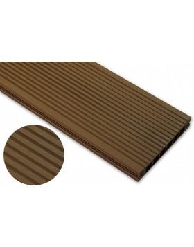 Deska szlifowana – dąb brąz – wąski rozstaw 3600x145x24 mm