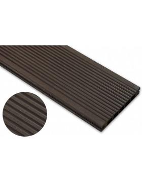 Deska szlifowana – ciemny brąz – wąski rozstaw 2400x140x22 mm