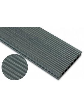 Deska deseniowana – grafit – wąski rozstaw 2400mm x 145mm x 24mm