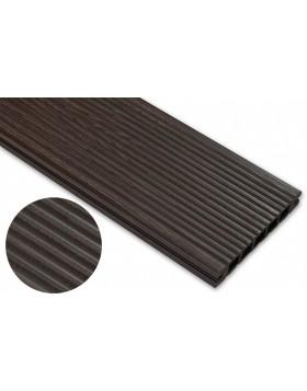 Deska deseniowana – ciemny brąz – wąski rozstaw 3600x145x24 mm