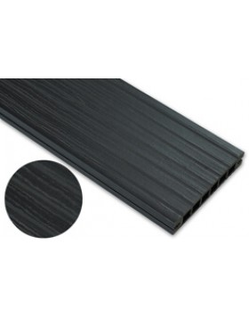Deska deseniowana – antracyt – szeroki rozstaw 3200x145x24 mm