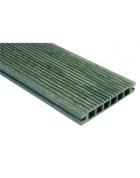Deska szlifowana-deseniowana – ciemny brąz – szeroki rozstaw 3200mm x 140mm x 22mm