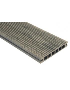 Deska szlifowana-deseniowana – ciemny brąz – szeroki rozstaw 3200x140x22 mm