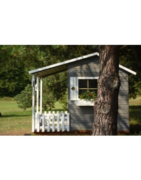Drewniany domek ogrodowy dla dzieci - Madzia