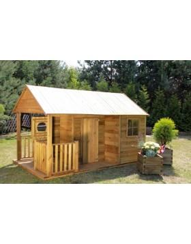 Drewniany domek ogrodowy dla dzieci - Szymek