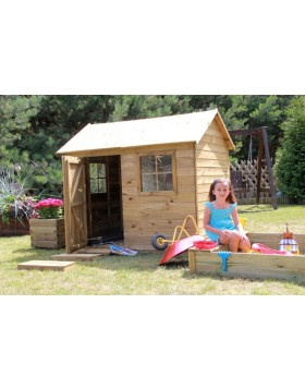 Drewniany domek ogrodowy dla dzieci - Witek