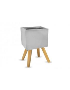 Donica Ecolite kwadrat na nogach, średnica 30 cm, wysokość 57 cm