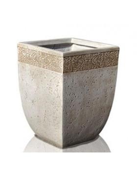 Donica Ecolite kwadratowa z wzorem 30x40 cm