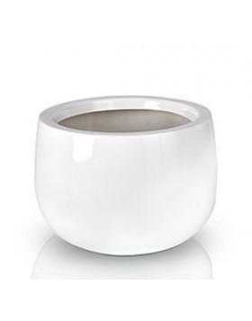 Donica Fiberglass bowl - white, średnica 45 cm wysokość 32 cm,