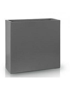 Donica Fiberglass  high rectangle graphite, średnica 55 cm x 28 cm, wysokość 76 cm