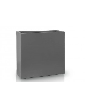 Donica Fiberglass  high rectangle graphite, średnica 55 cm x 28 cm, wysokość 60 cm