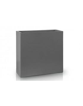 Donica Fiberglass high rectangle graphite, średnica 74 cm x 28 cm, wysokość 92 cm