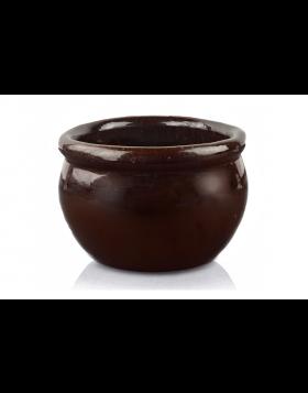 Donica ceramiczna Glazed Round - komplet 3 sztuk