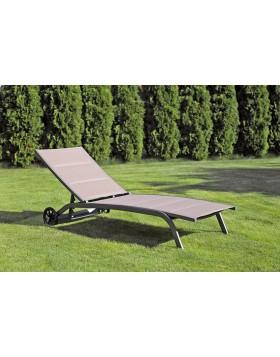 Leżak ogrodowy aluminiowy Olivier Grey / Taupe