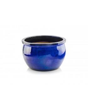Donica ceramiczna   Glazed Round 28x16 cm