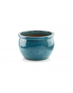 Donica ceramiczna   Glazed Round-Pot 50x32 cm