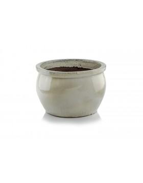 Donica ceramiczna   Glazed Round-Pot 28x16 cm