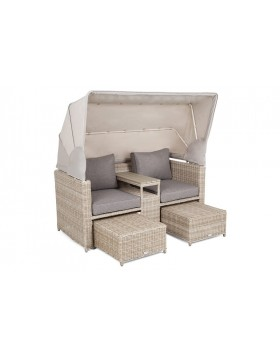 Sofa ogrodowa z baldachimem Missouri Beige / Beige Melange