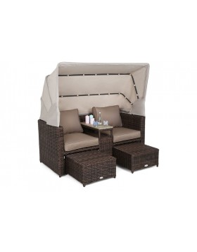 Sofa ogrodowa z baldachimem Missouri Brown Mat / Brown Melange