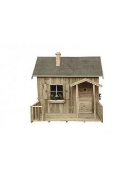 Domek ogrodowy z drewna dla dzieci - Misia