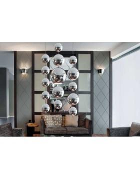 Kule dekoracyjne chromowane na lince ; średnica 10 cm, długość  100 cm - sztuk 4