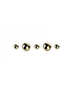 Kule dekoracyjne Gold na lince ; średnica 10 cm  i 6 cm, długość  100 cm - sztuk 4