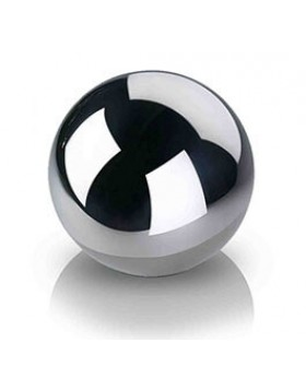 Ekskluzywna stalowa, lustrzana kula dekoracyjna średnica 30 cm
