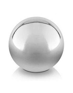 Dekoracyjna kula wykonana z ceramiki srebrnej średnica 9 cm - 12 kul