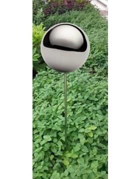 Kula dekoracyjna chromowana na stalowym piku 10x110 cm - 4 sztuki