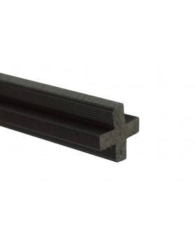 Łącznik krzyżakowy - antracyt 2400x22x22 mm