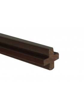 Łącznik krzyżakowy - ciemny brąz 2400x22x22 mm
