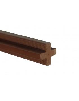 Łącznik krzyżakowy - jasny brąz 2400x22x22 mm