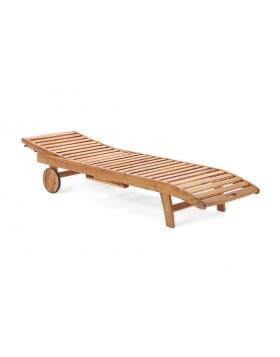 Leżak ogrodowy drewniany LUX na kółkach