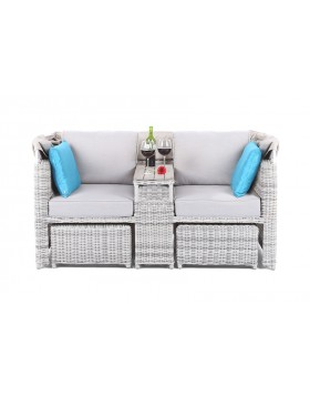 Sofa ogrodowa z baldachimem Minchen Light Grey / Grey