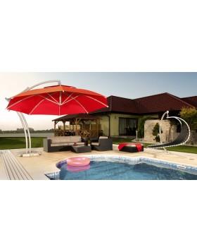 Parasol ogrodowy Ibiza 420 cm zielony