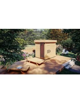 Sauna zewnętrzna-ogrodowa Prymula z witryną