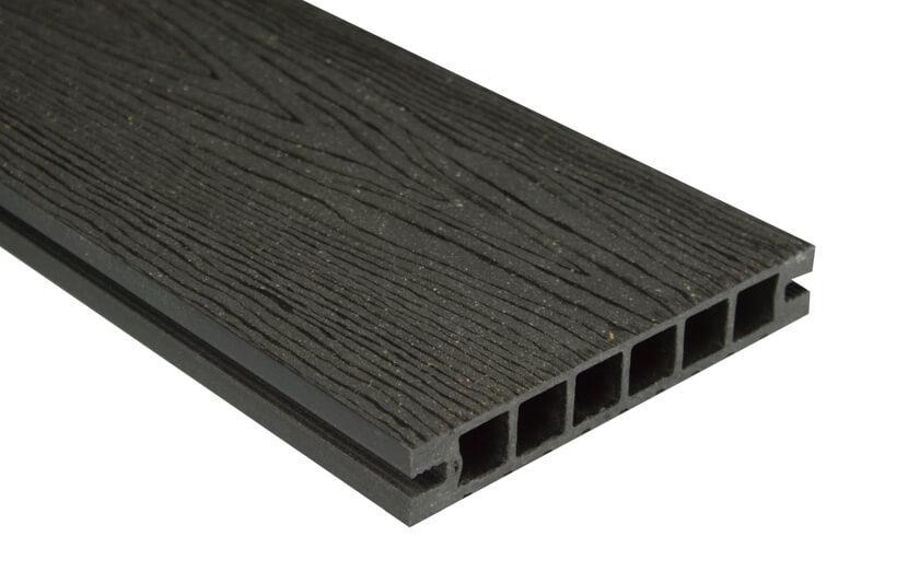 Deska DeLux – szlifowana-deseniowana –antracyt – 2400x160x28 mm